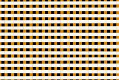 正方形和线在黄色和黑的几何背景与蜂作用 免版税图库摄影
