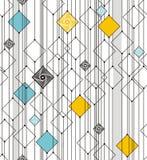 从正方形和线的抽象几何 库存图片