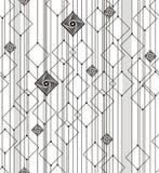 从正方形和线的抽象几何 免版税库存照片