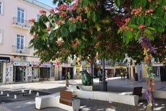 正方形在塞图巴尔,葡萄牙 库存照片