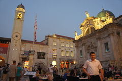 正方形在杜布罗夫尼克在克罗地亚 免版税库存图片