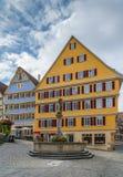 正方形在蒂宾根,德国 库存图片