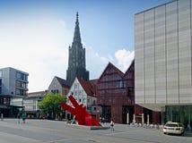 正方形用一个新的方式- Ulm 免版税库存图片