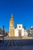 正方形的Tomar教会 葡萄牙 库存照片