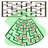 正方形被扭屈的迷宫 库存图片