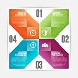 正方形被翻转的Infographic 免版税库存照片