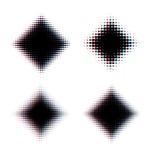 正方形覆盖了半音背景 免版税库存照片