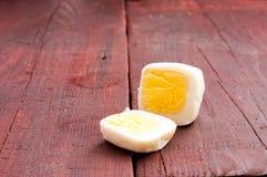 正方形,被剥皮的鸡蛋 图库摄影