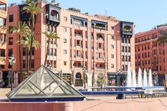 正方形11月16日在马拉喀什 摩洛哥 库存照片