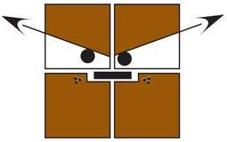 正方形-疯狂的狗 免版税库存照片