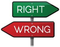 正确或错误标志 库存照片