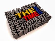 正确时间 免版税库存照片