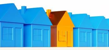 正确的不动产决定:特别金黄房子 向量例证