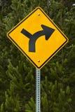 正确的路标轮 免版税库存照片