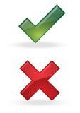 正确的错误 免版税库存图片