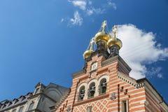 正统亚历山大・涅夫斯基教会,哥本哈根,丹麦 免版税库存图片