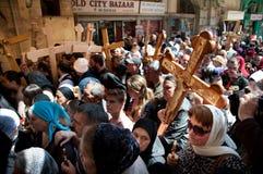 正统基督徒星期五好耶路撒冷的标记 库存照片