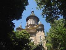 正统大城市大教堂在蒂米什瓦拉罗马尼亚 库存照片