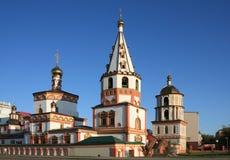 正统大教堂的irkutsks 免版税库存照片