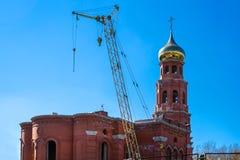 正统寺庙的建筑在俄罗斯 免版税图库摄影