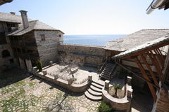 正统希腊的修道院 免版税库存图片