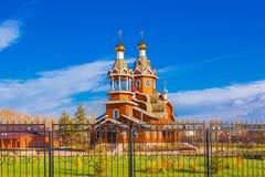 正统的教会 Berdsk,新西伯利亚oblast,俄罗斯 库存照片