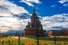 正统的教会 Berdsk,新西伯利亚oblast,俄罗斯 库存图片