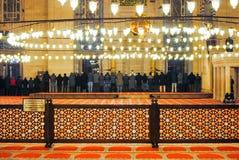 正统香客参观了圣诞节的Aya索菲娅清真寺 库存图片