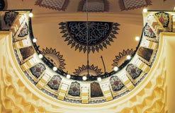 正统香客参观了圣诞节的Aya索菲娅清真寺 免版税库存图片