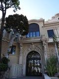 正门,著名赌博娱乐场的机盖在蒙特卡洛,摩纳哥 库存照片