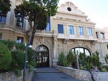 正门,著名赌博娱乐场的机盖在蒙特卡洛,摩纳哥 免版税库存图片