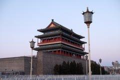 正阳门射箭塔在北京 库存照片