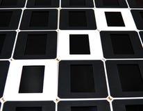 正面和阴性的概念 黑白幻灯片框架 免版税库存照片