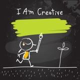正面哄骗肯定,我是创造性的 库存例证