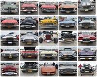 正面图减速火箭的二十辆fives汽车纽约展示 免版税库存图片