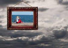正面外型-天气或生活,概念-风暴和sunshin 库存照片
