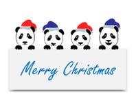 正面情感熊猫集合 免版税库存图片