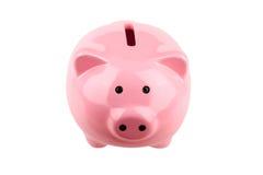 正面Piggybank 免版税图库摄影