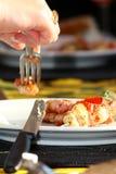 正餐吃 免版税库存图片