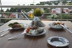 正餐和开胃菜 图库摄影