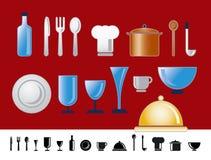 正餐图标厨房 向量例证