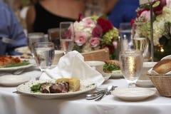 正餐婚礼 免版税库存图片