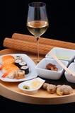 正餐日本人寿司 库存照片