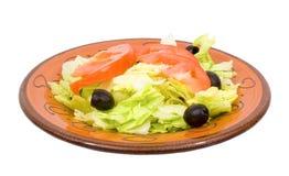 正餐查出的沙拉 免版税库存照片