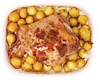 正餐烤羊肉 免版税库存图片