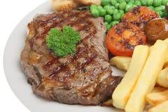 正餐牛腰肉排 免版税库存图片