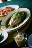 正餐的海鲜 免版税库存照片