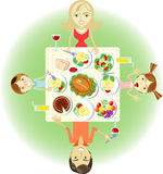 正餐系列 免版税库存照片