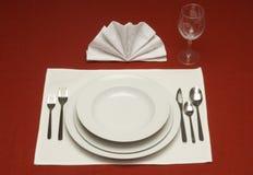 正餐餐位餐具 图库摄影