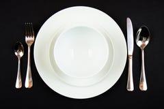 正餐餐位餐具 免版税库存图片